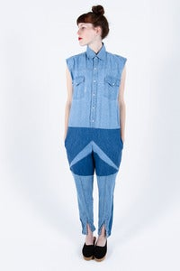 Image of Andrea Crews Denim Overalls