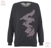 Image of Crow Black Sweatshirt (Girls Organic)