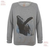 Image of Whale Grey Sweatshirt (Girls Organic)