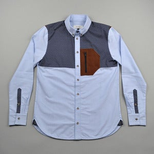 Image of CRUX SHIRT - BLUE OXFORD