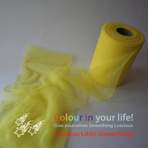 Image of Nylon Chiffon (tricot) 6&quot; wide - Yellow - per metre