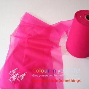 Image of Nylon Chiffon (tricot) 6&quot; wide - Magenta - per metre
