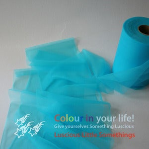 Image of Nylon Chiffon (tricot) 6&quot; wide - Turquoise - per metre