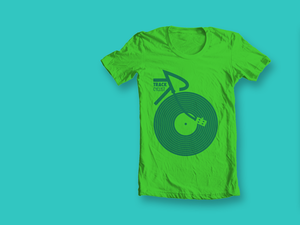 Image of ORGANIC TRACK T-SHIRT - GREEN