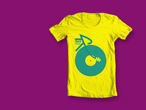 Image of ORGANIC TRACK T-SHIRT - YELLOW