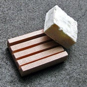 Image of wooden soap dish - small