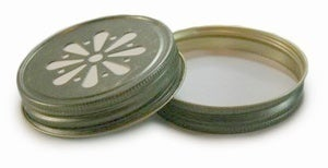 Image of Daisy Mason Jar Lids, set of 5