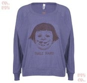 Image of Smile Hard Orchid Batwing Pullover (Girls)