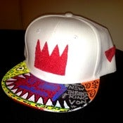 "Image of The Ron Bass ""KINGING"" SnapCap (White/Red)"