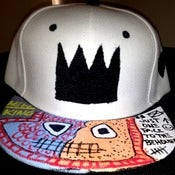 "Image of The Ron Bass ""KINGING"" SnapCap (White/Blk/Blk)"