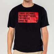 "Image of ""Carry So Hard"" - Red on Black [Unisex Crew Neck]"
