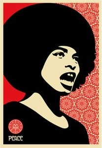 Image of &quot;Angela Davis&quot; ltd edition screen-print by Shepard Fairey 