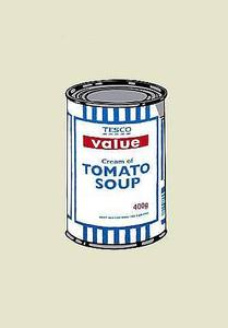 Image of &quot;Soupcan Original Blue &amp; White&quot; by Banksy