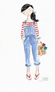Image of OVERALLS 3 - ORIGINAL WATERCOLOR