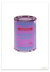 Image of &quot;Soupcan Purple &amp; Blue&quot; by Banksy