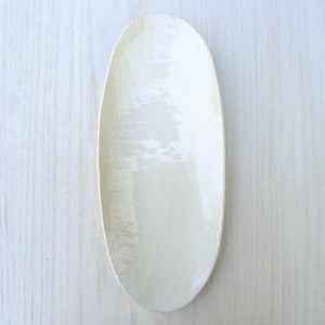 Image of white oval platter #26