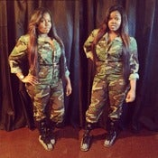 Image of Army Fatigue Jumpsuit