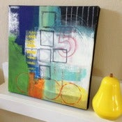 Image of PLAYGROUND original abstract art on canvas