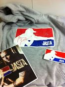 Image of 2xl Jasta hooded sweatshirt (crooked print) clearance sale