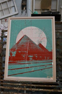 Image of Framed Pyramid Art Print