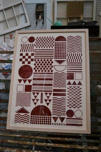 "Image of Framed ""Native"" Pattern Art Print"