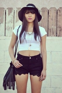 Image of Lace High Waist Shorts