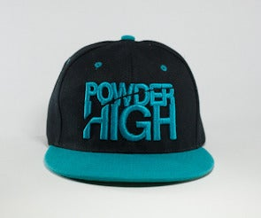 Image of Stacked Snapback - Black/Teal