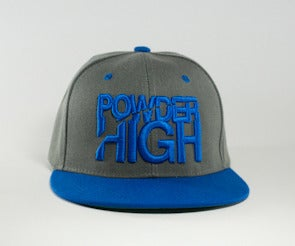 Image of Stacked Snapback - Charcoal Grey/Royal Blue