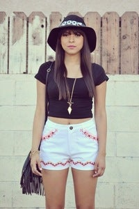 Image of Aztec Print High Shorts