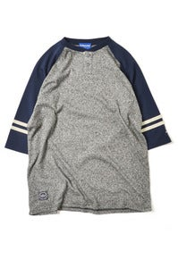 Image of LAFAYETTE HENLY NECK RAGLAN BASEBALL TEE HEATHER GRAY