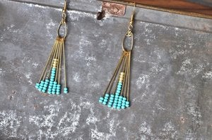 Image of BangBang Boho Earrings Turquoise