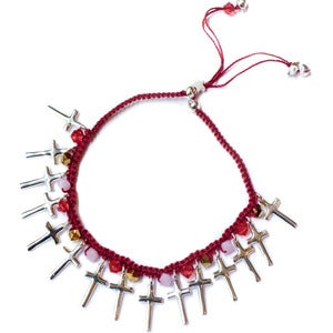 Image of Bond Girl Red 'Count Your Confessions' bracelet