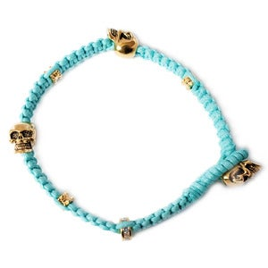 Image of Ice Ice Baby Blue 'Don't lose your head' bracelet