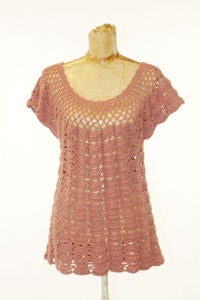 Image of VINTAGE 70's crochet top