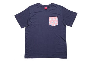 Image of Campamento pocket tee in light navy