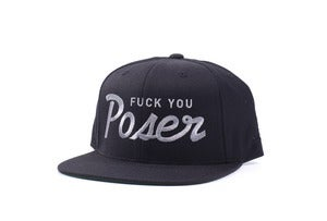 Image of Fuck you Poser Snapback in Black
