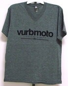 Image of Vurbmoto Heather Gray V-Neck Tee