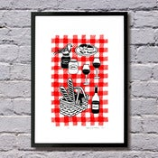 Image of Picnic limited edition print - (more colours available...)