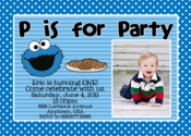Image of Cookie Monster Invitation