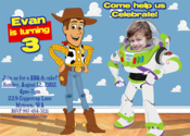 Image of Toy Story Invitation