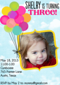 Image of Float Away Balloon Invitation