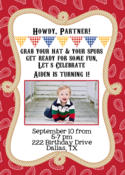 Image of Little Wrangler Cowboy Invitation