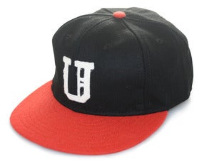 Image of Ebbets x UNDRCRWN Kings Strap back Hat | black/orange