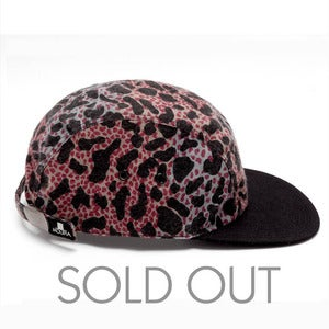 Image of MOUPIA Rave Leopard 5 Panel Hat