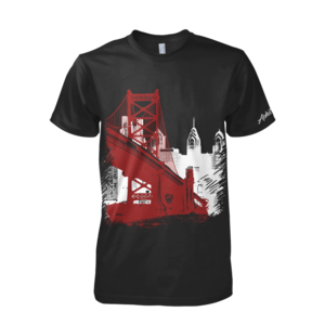 Image of Ben Franklin Bridge Tee (Black/Red/White)