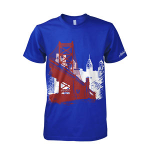 Image of Ben Franklin Bridge Tee (Royal/Red)