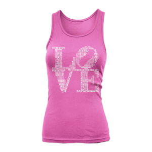 Image of Women's Love Tank-Top (Pink)