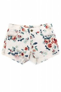 Image of Floral Printed Shorts