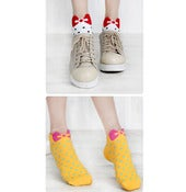 Image of Spotty Bow Tie Socks - 4 Colours