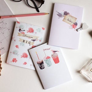 Image of Set Of Three Pretty Notebooks